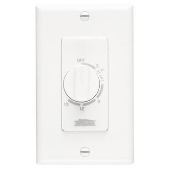 Broan 15 Minutes Decorator Time Control, White