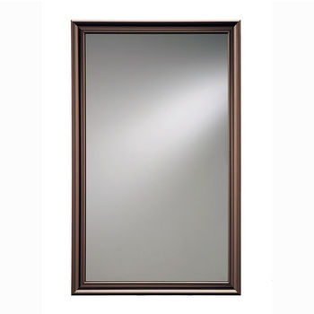 "Broan Jensen by Broan Studio V Collection 14"" W X 24"" H or 14"" W x 34"" H Wall Mounted Beveled Mirror with Oil Rubbed Bronze Frame"