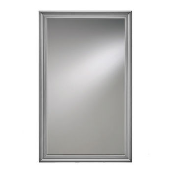 "Broan Jensen by Broan Studio V Collection 14"" W X 24"" H or 14"" W x 34"" H Wall Mounted Beveled Mirror with Satin Nickel Frame"