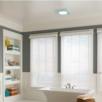 "NuTone LunAura ™ 110 CFM Ventilation Fan/Light/Led Nightlight with Tinted Light Panel, 0.7 Sones, Energy Star ®, Housing: 11-3/8"" W x 10-1/2"" D x 7-5/8"" H"