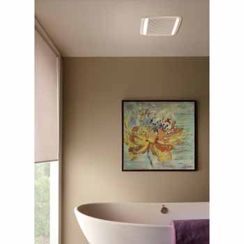 Qtdc Series Energy Star Certified Bathroom Exhaust Fan With Led Light And Selectable 110 130 Or 150 Cfm Measuring 10 1 2 W X 11 3 8 D X 7 5 8 H By Broan Kitchensource Com