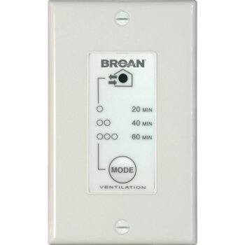 Broan 20/40/60-Minute Timer Wall Control for ERV and HRV Units