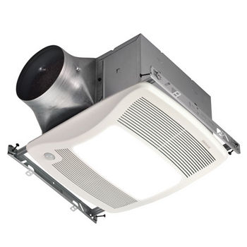 "Broan Ultra Green ™ 80 CFM Motion Sensing Multi-Speed Ventilation Fan/Light with White Grille, <0.3 Sones, Energy Star ®, Housing: 11-3/8"" W x 10-1/2"" D x 7-5/8"" H"