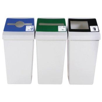 Multiple Grey Recycling Bin Base