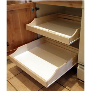 Rolling Shelves Do It Yourself Cabinet Pull Outs, Available In Multiple  Sizes U0026 Finishes