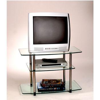 Classic Glass Series Three-Tier TV Stand