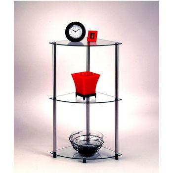 Classic Glass Series Three-Tier Corner Shelf
