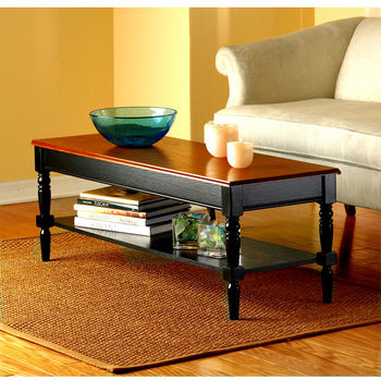 French Country Collection Coffee Table with Shelf