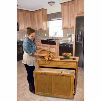 Pull Out Recycling Trash Kitchen