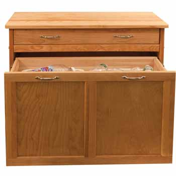 "Catskill Pull Out Recycling / Trash Kitchen Island, 38""W x 17 ""D x 34-1/2""H"