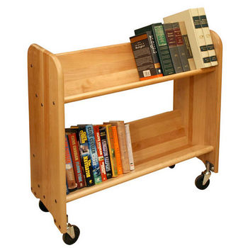 Catskill Bookmaster Rol-Rack - Book & Video Carts, 32'' Natural Birch