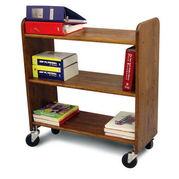 Catskill Library Book Trucks, Birch w/ Walnut Stain