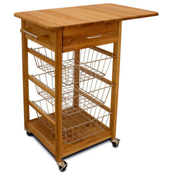 Catskill Basket Cart with Drop Leaf - CA-KI11371