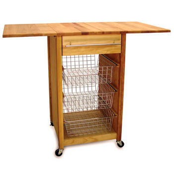 Catskill Kitchen Cart With Drop Leaves