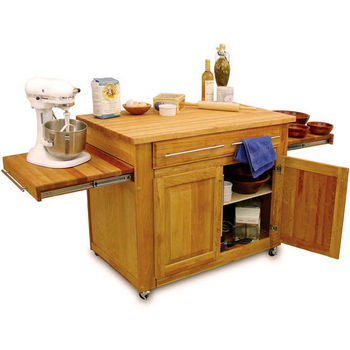 Kitchen Islands - Empire Kitchen Island With Two Pull-Out ...