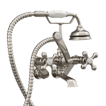 """Adjusts From 3-3//8/"""" 9/"""" Oil Rubbed Bronze Clawfoot Bathtub Faucet Swing Arms"""