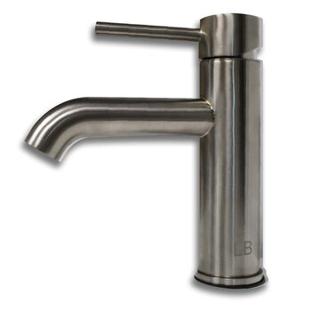 Cambridge Plumbing Single Stem Short Vanity Vessel Sink Faucet, Brushed Nickel