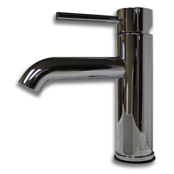 Cambridge Plumbing Single Stem Short Vanity Vessel Sink Faucet, Polished Chrome