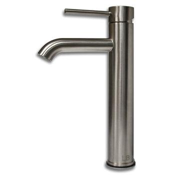 Cambridge Plumbing Single Stem Tall Vanity Vessel Sink Faucet, Brushed Nickel