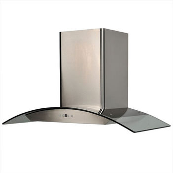 Cavaliere AP238-PSD Stainless Steel Wall Mount Range Hood with Tempered Glass Canopy