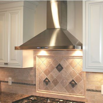 Wall Mount Range Hoods Canopies Chimneys Ductless