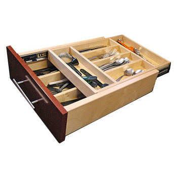 CCF Industries Double-Decker - Dovetailed Wood Cutlery Drawer