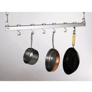 Concept Housewares Bar Chrome Ceiling Pot Rack