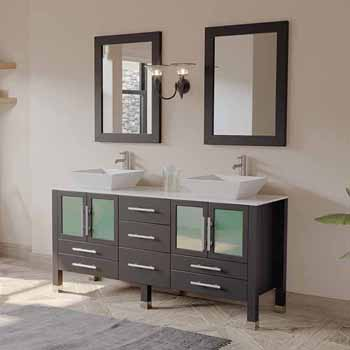 amazing marble countertop sink design and modern faucet.htm solid wood 63  or 71  double vanity set in multiple finishes with  solid wood 63  or 71  double vanity set