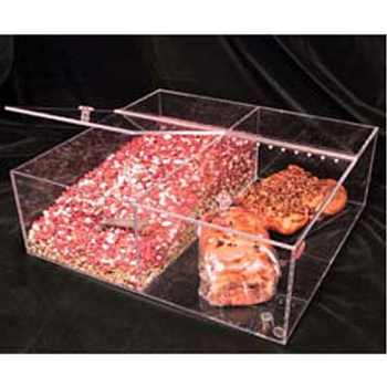 Transparent Inserts Breadboxes w/ Hinged Lids