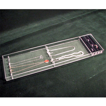 Transparent Inserts Jewelry Ring & Necklace Top Tray