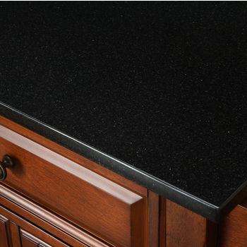 Crosley Furniture Solid Black Granite Top Kitchen Cart/Island in Vintage Mahogany Finish