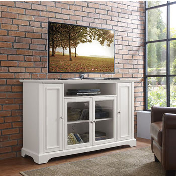 """Crosley Furniture Campbell 60"""" TV Stand, White Finish"""