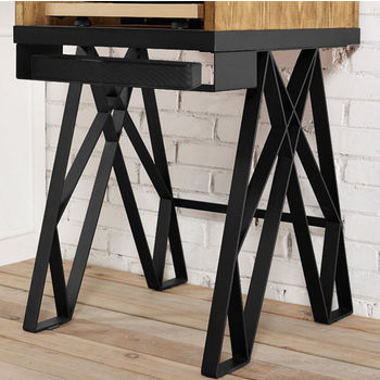 Crosley Furniture Brooklyn Turntable Stand, Natural Finish
