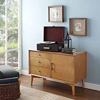 Crosley Furniture Landon Media Console, Acorn Finish