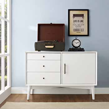 Crosley Furniture Landon Media Console, White Finish