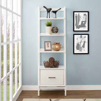 Crosley Furniture Landon Small Etagere, White Finish