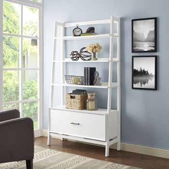 Crosley Furniture Landon Large Etagere, White Finish