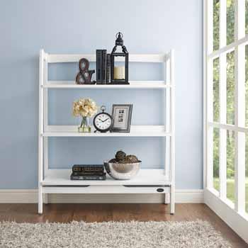 Crosley Furniture Landon Bookcase, White Finish
