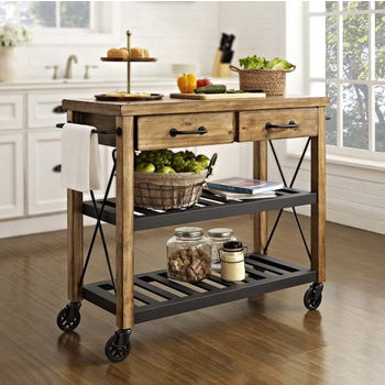 Nice Crosley Furniture Roots Rack Industrial Kitchen Cart, 42