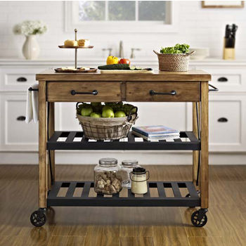 Cart in Kitchen - Side View
