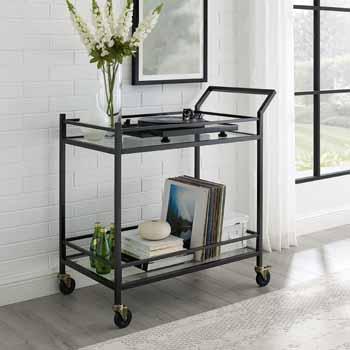 Oil Rubbed Bronze - Bar Cart