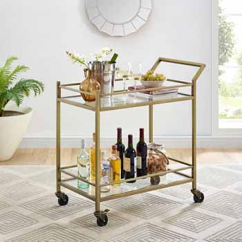 Antique Gold - Bar Cart