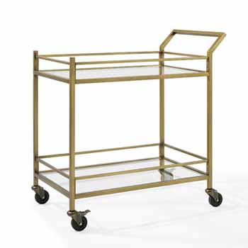 Antique Gold - Bar Cart with White Background