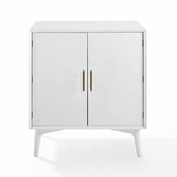 Crosley Furniture Landon Bar Cabinet, White Finish, 39-1/2''W x 25''D x 13''H