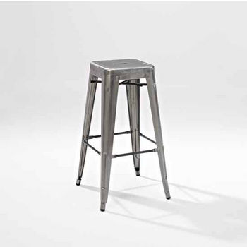 Crosley Furniture Amelia Metal Café Barstool (Sold in Pairs), 17''W x 17''D x 30''H