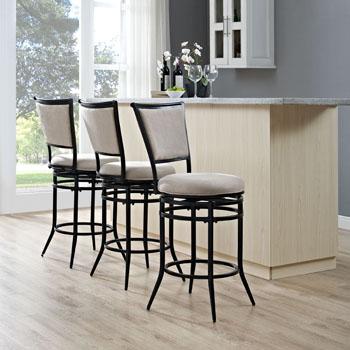 Black Counter Stool w/ White Cushion, Lifestyle View