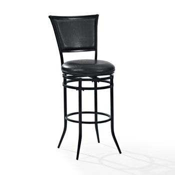 Black Barstool w/ Black Cushion, Product View