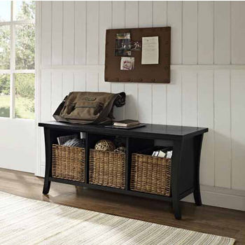 Outstanding Crosley Furniture Wallis Entryway Storage Bench With 3 Cjindustries Chair Design For Home Cjindustriesco