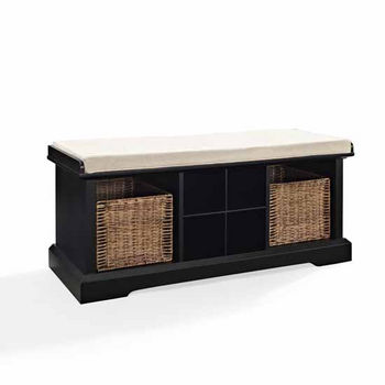 Brennan Entryway Storage Bench in Black