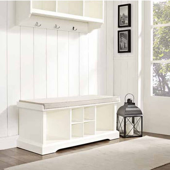 Brennan Entryway Storage Bench in White